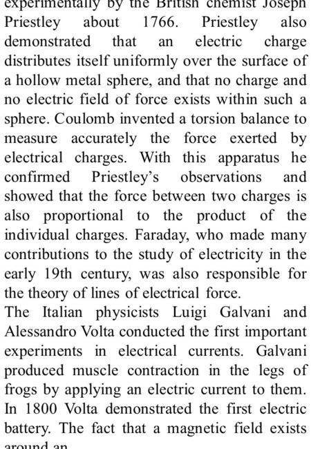 The law that the force between electric charges varies inversely with the square of the distance between the charges was proved experimentally by the British.