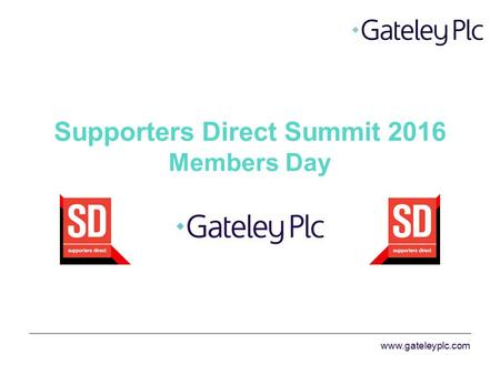 Supporters Direct Summit 2016 Members Day.