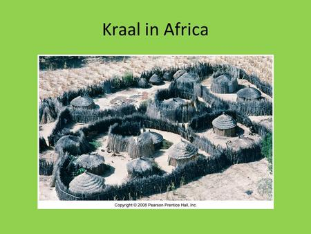 Kraal in Africa. Dispersed Rural Settlement Each settlement has an economic base Basic Services create goods to be distributed outside of the community.
