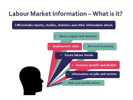 Labour Market Information – What is it? LMI includes reports, studies, statistics and other information about: the local economy business growth and decline.