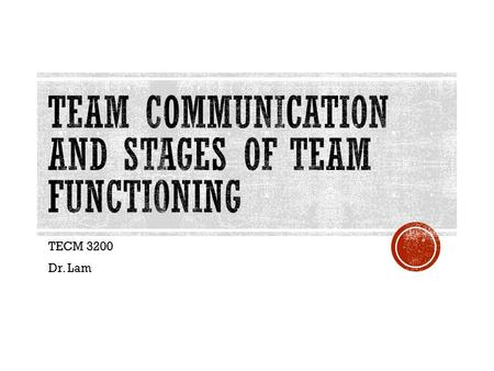 TECM 3200 Dr. Lam.  Text CHRISLAM138 to 22333  Occurs when an individual exerts less effort working in a team than if they would have worked by themselves.