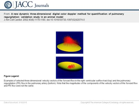 Date of download: 9/18/2016 Copyright © The American College of Cardiology. All rights reserved. From: A new dynamic three-dimensional digital color doppler.