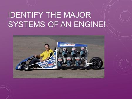 IDENTIFY THE MAJOR SYSTEMS OF AN ENGINE!. NEXT GENERATION SCIENCE/COMMON CORE STANDARDS ADDRESSED! CCSS.ELA Literacy.RST.9‐ 10.3 Follow precisely a complex.