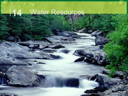14 Water Resources CHAPTER. What has a mouth but does not eat, has a bed but does not sleep, always runs and never walks? A River.