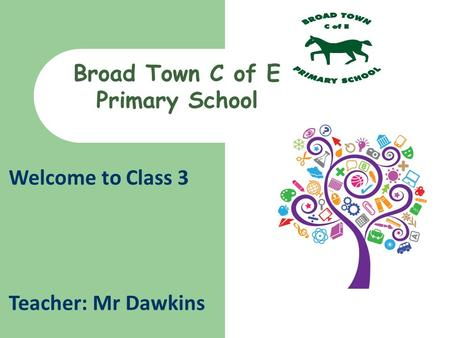 Welcome to Class 3 Teacher: Mr Dawkins Broad Town C of E Primary School.