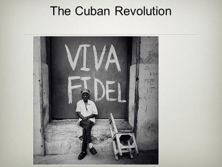 The Cuban Revolution. Using your book, answer the following questions 1. What impact did sugar have on Cuba? 2 Why was there resentment towards the US.