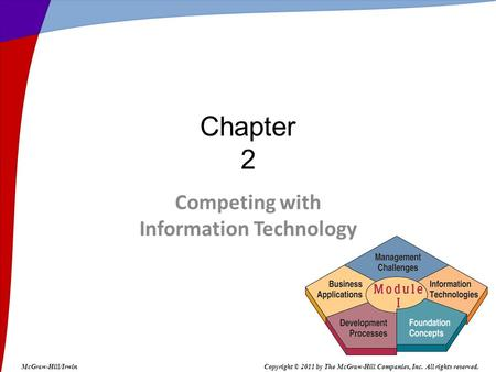 Competing with Information Technology Chapter 2 McGraw-Hill/IrwinCopyright © 2011 by The McGraw-Hill Companies, Inc. All rights reserved.