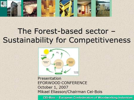 CEI-Bois – European Confederation of Woodworking Industries The Forest-based sector – Sustainability for Competitiveness Presentation EFORWOOD CONFERENCE.