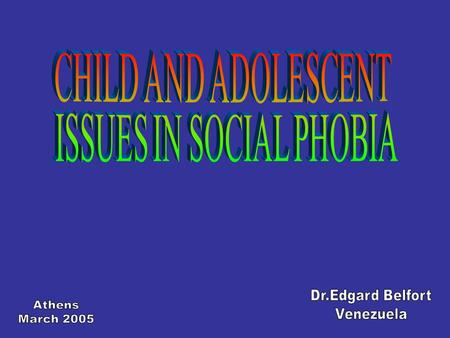 MENTAL DISORDERS CLINICAL OUTPATIENT VENEZUELA 1997 - 2004 0 – 18 YEARS19 – 55 YEARS Mentally RetardedSchizophrenic Psychosis EpilepsyAffective Psychosis.