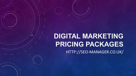 DIGITAL MARKETING PRICING PACKAGES