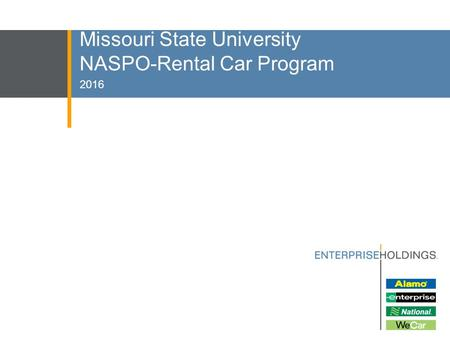 Missouri State University NASPO-Rental Car Program 2016.