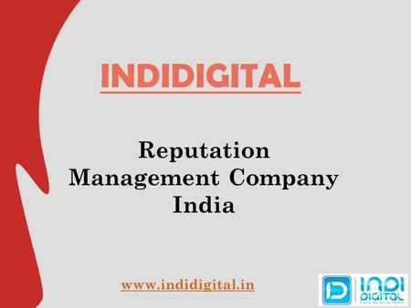 INDIDIGITAL Reputation Management Company India
