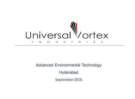 Advanced Environmental Technology Hyderabad September 2016.