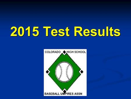 2015 Test Results.