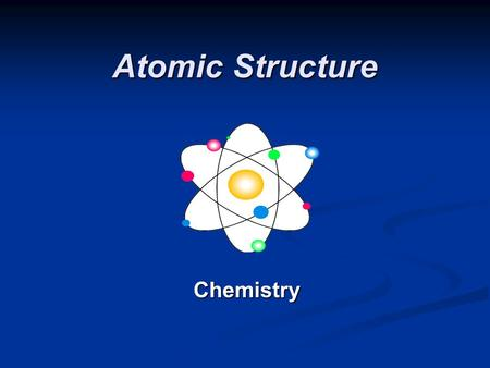 Atomic Structure Chemistry. Defining the Atom The Greek philosopher Democritus (460 B.C. – 370 B.C.) was among first to suggest the existence of atoms.