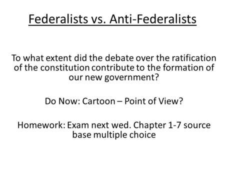essay federalism