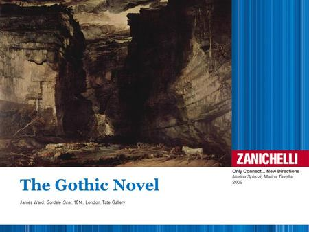 The Gothic Novel James Ward, Gordale Scar, 1814, London, Tate Gallery.