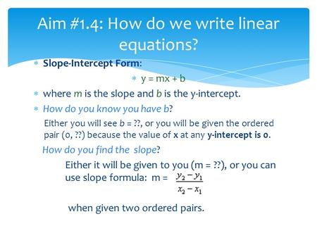 Lesson Solving Two Variable Equations/Systems
