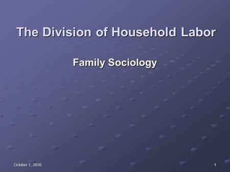 division of household labor Economic dependency and the division of household labor: a longitudinal examination of the impact of relative earnings on household labor kimberly a.