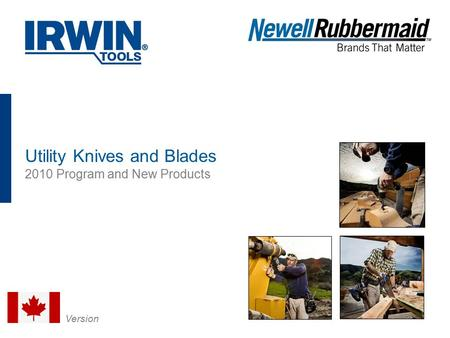 MRO Image Utility Knives and Blades 2010 Program and New Products Version.