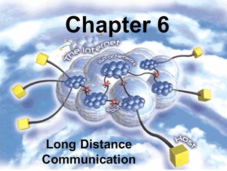 Chapter 6 Long Distance Communication. Long-Distance Communication Important fact: an oscillating signal travels farther than direct current For long-distance.