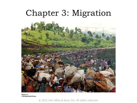 Chapter 3: Migration © 2012 John Wiley & Sons, Inc. All rights reserved.
