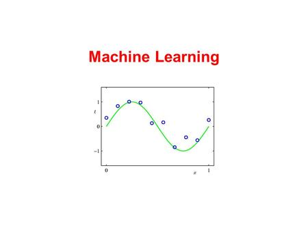Machine Learning. Machine Learning: what is it? We have data.
