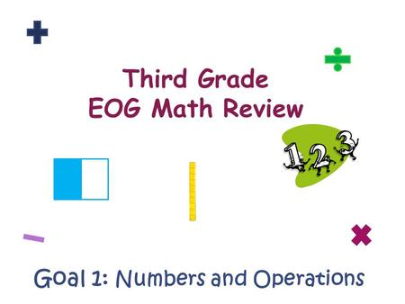 Third Grade EOG Math Review Goal 1: Numbers and Operations.