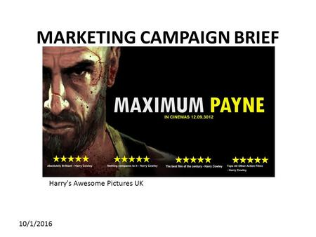 MARKETING CAMPAIGN BRIEF