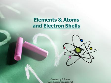 Created by G.Baker  Elements & Atoms and Electron Shells.