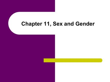 Chapter 11, Sex and Gender. Chapter Outline Human Sexuality Gender Roles Gender Stratification Gender Ideology Exploitation Caused by Gender Ideology.