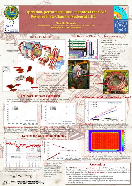 Operation, performance and upgrade of the CMS Resistive Plate Chamber system at LHC Marcello Abbrescia Physics Department - University of Bari & INFN,