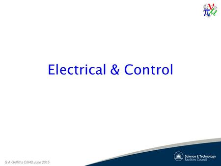 S A Griffiths CM42 June 2015 Electrical & Control.