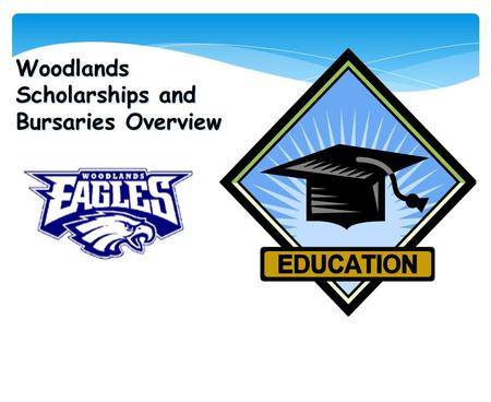 Woodlands Scholarships and Bursaries Overview. Overview  Definitions and Facts  What makes a good candidate?  Scholarship Timeline.  Nanaimo Ladysmith.