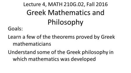 Understanding the mathematics philosophy