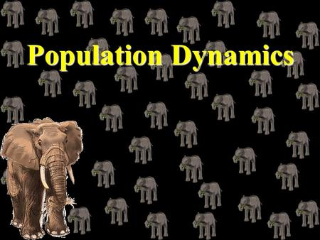 Population Dynamics Population Dynamics Characteristics of a Population Population - individuals inhabiting the same area at the same time Population.