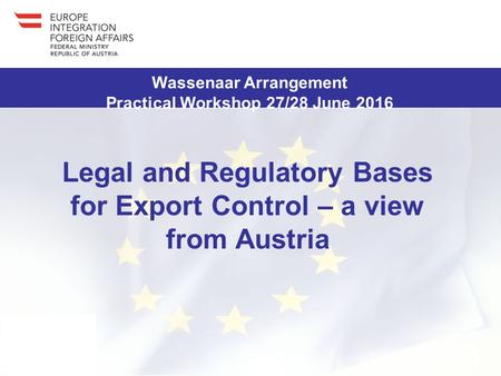 A project implemented by BAFA This project is funded by the EU This project is funded by the German Federal Foreign Office Legal and Regulatory Bases for.