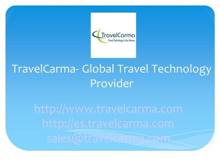TravelCarma- Global Travel Technology Provider