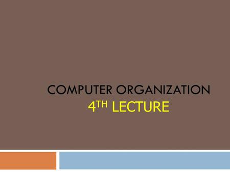 COMPUTER ORGANIZATION 4 TH LECTURE. ASCII Code  ASCII ( American Standard Code for Information Interchange).  Input and output devices that communicate.