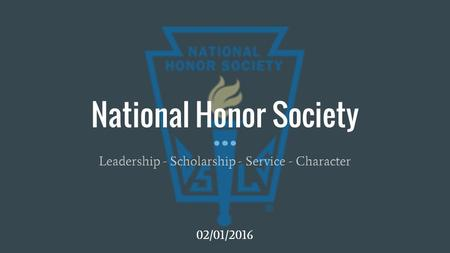 GHS Senior awarded scholarship from National Honor Society