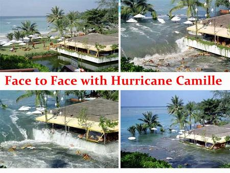 Face to Face with Hurricane Camille. Teaching Aims 1 . To know something about Hurricane 2 . To learn to use words to describe disasters 3. To be acquainted.
