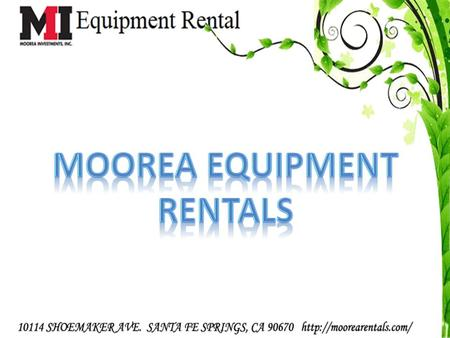Moorea Equipment Rentals provides a wide range of blasting and coating equipment for rent for the specialized construction and industrial coating markets.
