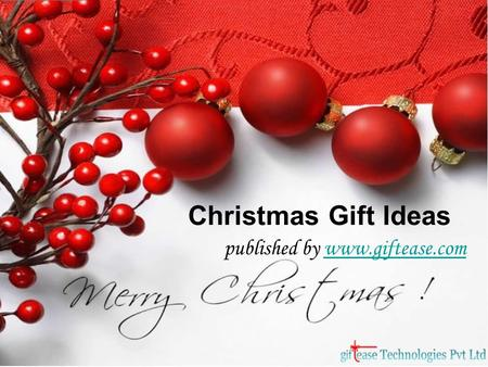 Christmas Gift Ideas published by