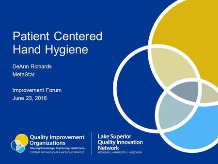 Patient Centered Hand Hygiene DeAnn Richards MetaStar Improvement Forum June 23, 2016.