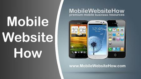 Mobile Usage Facts local mobile customer – 95% mobile users search for local info Mobile Usage Facts.