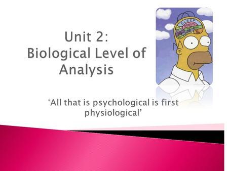 biological psychology topics