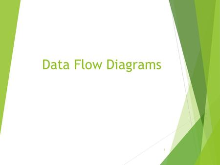 Data Flow Diagrams 1. What is a Data Flow Diagram?  A data flow diagram (DFD) is a graphical representation of the movement of data between external.