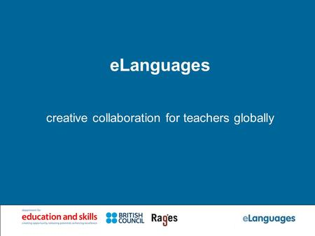 ELanguages creative collaboration for teachers globally.