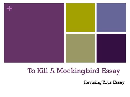 tkam essay hook Free to kill a mockingbird papers, essays, and research papers.