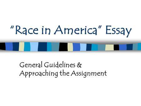 racism in america essay Racism in america essays: over 180,000 racism in america essays, racism in america term papers, racism in america research paper, book reports 184 990 essays, term.